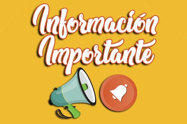INFORMACIÓN PARA LA COMUNIDAD EDUCATIVA